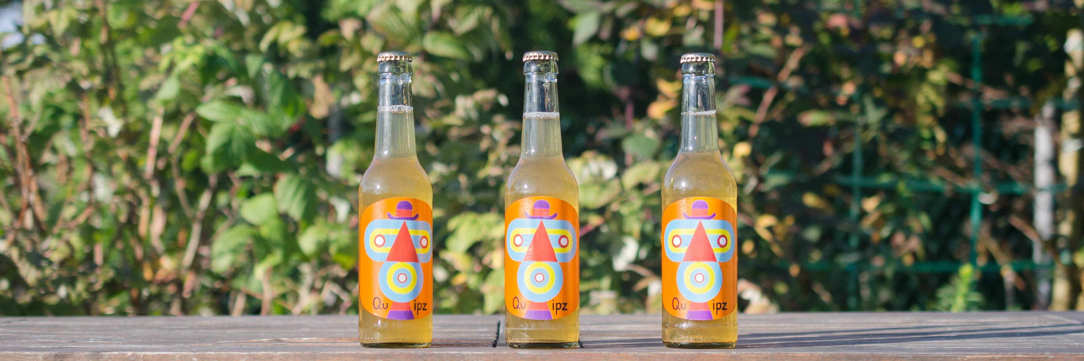 Kopfgrafik mit Limonadenflaschen